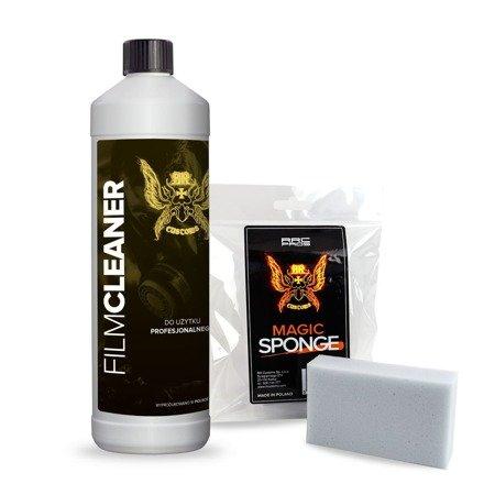Film Cleaner preparat do czyszczenia folii 1 L + magiczna gąbka ( zestaw )