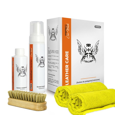 Zestaw do czyszczenia skór Leather Cleaner Strong BOX    RRCustoms